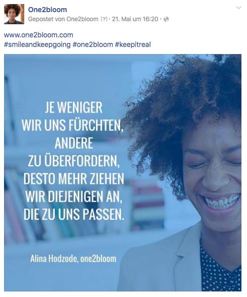 Zitat zum Thema Sichtbarkeit von Alina Hodzode (one2bloom)